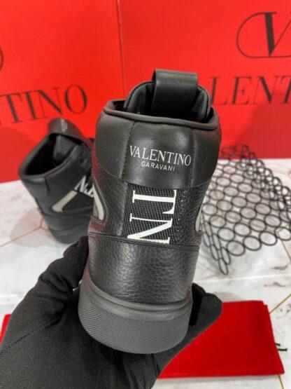 valentino ayakkabi siyah beyaz bot ithal