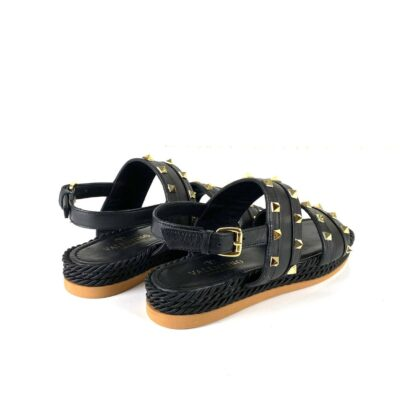 valentino terlik garavani rockstud one rope slide sandalet