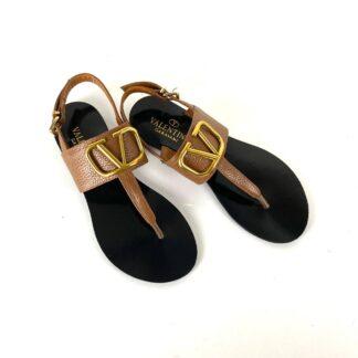 valentino terlik vlogo mule sandals taba sandalet