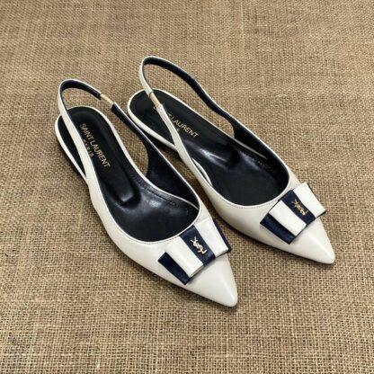 yves saint laurent babet krem siyah sandalet