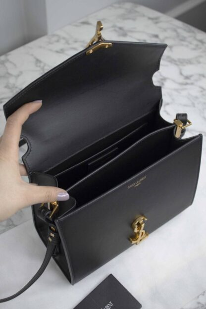 yves saint laurent canta cassandra top handle medium siyah 20x16x7.5 cm