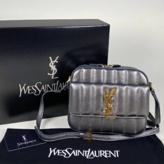 yves saint laurent canta vicky camera silver ithal