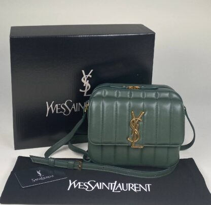 yves saint laurent canta vicky camera yesil ithal