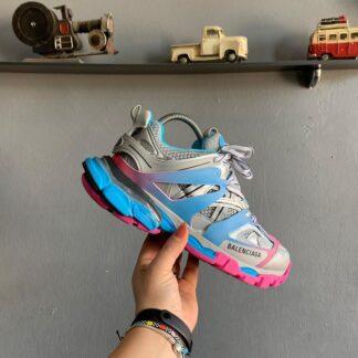 balenciaga ayakkabi sneakers track mavi pembe yeni sezon ithal