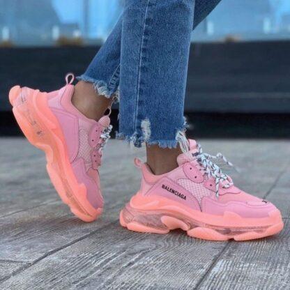 balenciaga ayakkabi sneakers triples pembe ithal