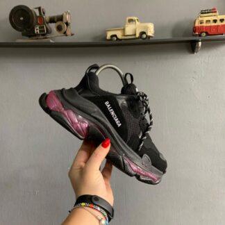 balenciaga ayakkabi sneakers triples siyah bordo ithal