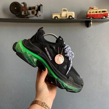 balenciaga ayakkabi sneakers triples siyah yesil ithal
