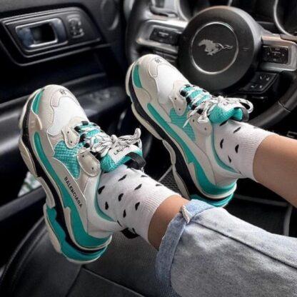 balenciaga ayakkabi sneakers triples yesil ithal