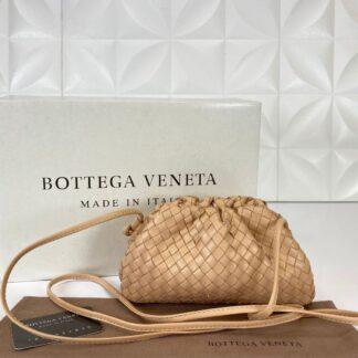 bottega veneta canta deri the pouch mini boy pudra 22x12 cm orgulu