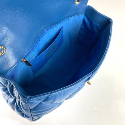 chanel canta jumbo chesterfield puffer 3.55 saks mavi gold 30x20 cm
