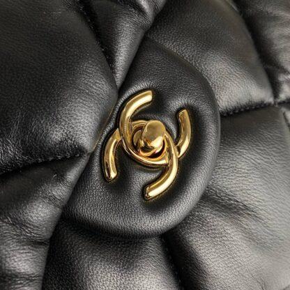 chanel canta jumbo chesterfield puffer 3.55 siyah gold 30x20 cm