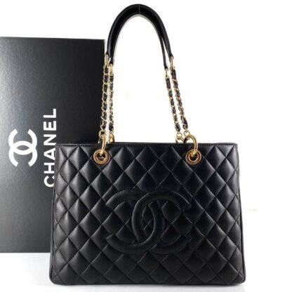 chanel canta shopping siyah gold 35x24 cm