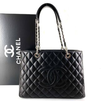 chanel canta shopping siyah silver 35x24 cm