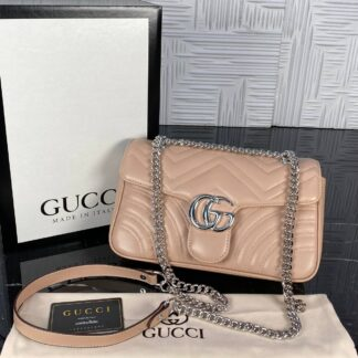 gucci canta marmont pudra silver 25x17 cm ithal
