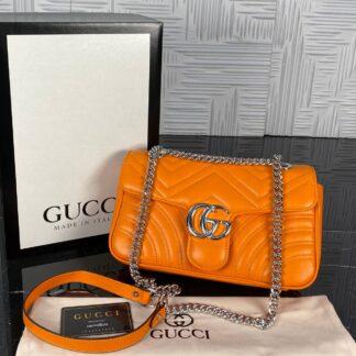 gucci canta marmont turuncu silver 25x17 cm ithal
