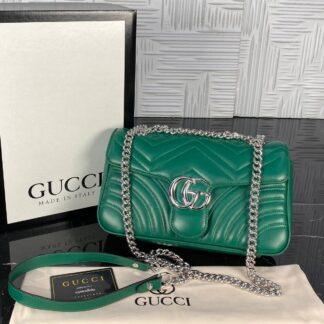 gucci canta marmont yesil silver 25x17 cm ithal