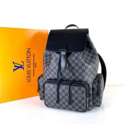 louis vuitton canta trio backpack sirt siyah damier 45x38x25 cm