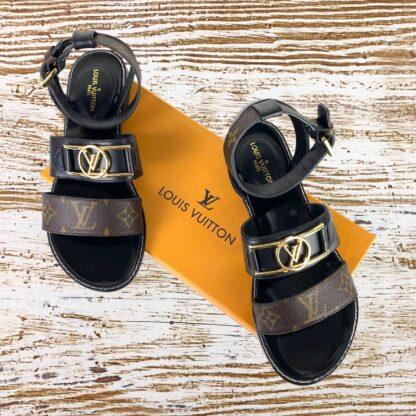 louis vuitton terlik sandalet hakiki deri