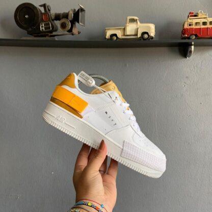 nike ayakkabi airforce n354 turuncu beyaz sneaker ithal