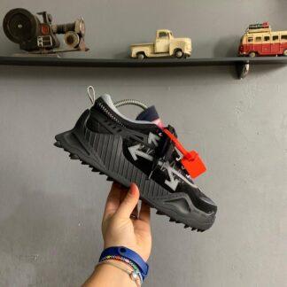 off white ayakkabi sneakers siyah ithal