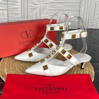 valentino ayakkabi topuklu beyaz gold 5 cm ithal