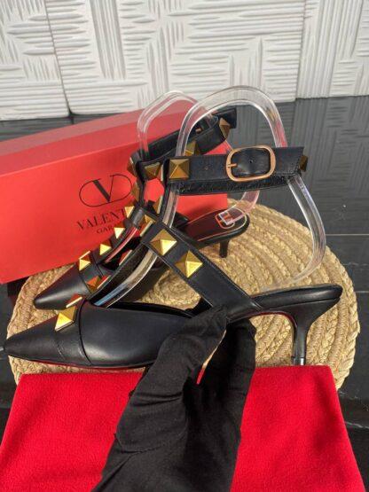 valentino ayakkabi topuklu siyah gold 5 cm ithal