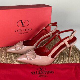 valentino ayakkabi topuklu vlogo pudra rugan kirmizi ithal
