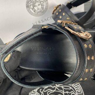 versace terlik sandalet siyah hakiki deri ithal