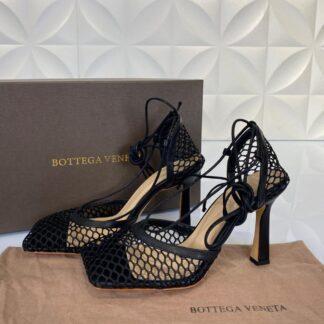 bottega veneta ayakkabi topuklu stretch pumps siyah 9cm
