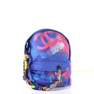 chanel canta graffiti backpack sirt unisex keten kumas 38x32 cm