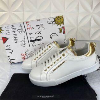 dolce gabbana ayakkabi sneakers beyaz gold nappa