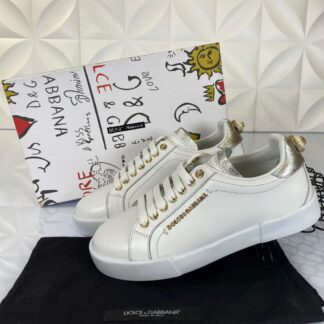 dolce gabbana ayakkabi sneakers beyaz silver nappa