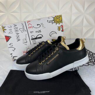 dolce gabbana ayakkabi sneakers siyah gold nappa