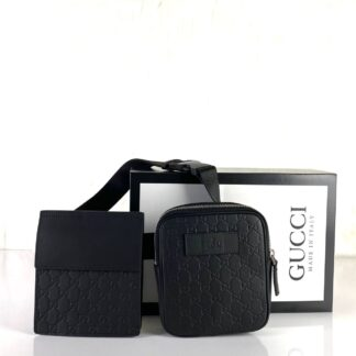 gucci canta erkek waist strap bel deri siyah ikili yanyana