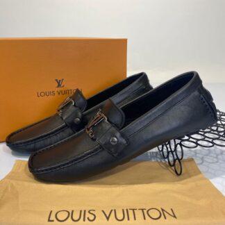 louis vuitton ayakkabi siyah duz erkek loafer