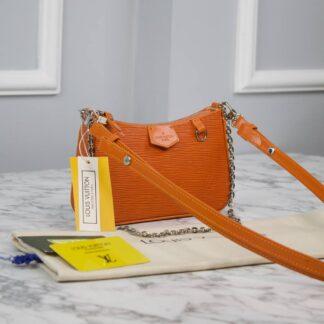 louis vuitton canta turuncu ithal epi easy pouch on strap 19x11.5x3 cm