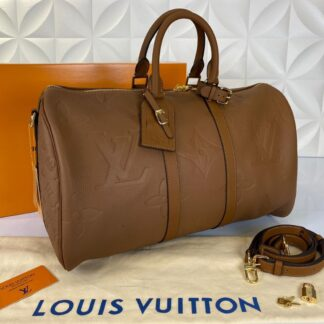 louis vuitton valiz ithal keepall bandouliere 45 cm taba