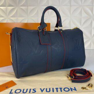 louis vuitton valiz lacivert ithal keepall bandouliere 45 cm