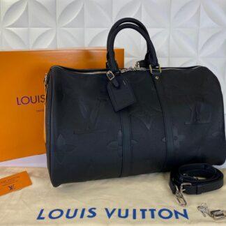 louis vuitton valiz siyah ithal keepall bandouliere 45 cm