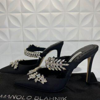 manolo blahnik ayakkabi siyah topuklu 12 cm
