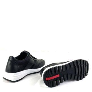 prada ayakkabi siyah deri sneakers cloudbust