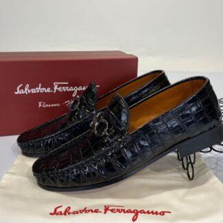 salvatore ferragamo ayakkabi erkek loafer crocco siyah