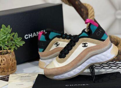 chanel ayakkabi sneakers krem pudra ithal premium