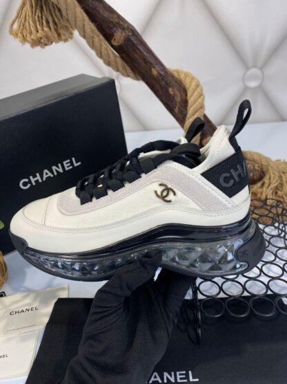 chanel ayakkabi sneakers krem siyah ithal premium