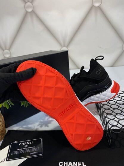 chanel ayakkabi sneakers siyah kirmizi ithal premium