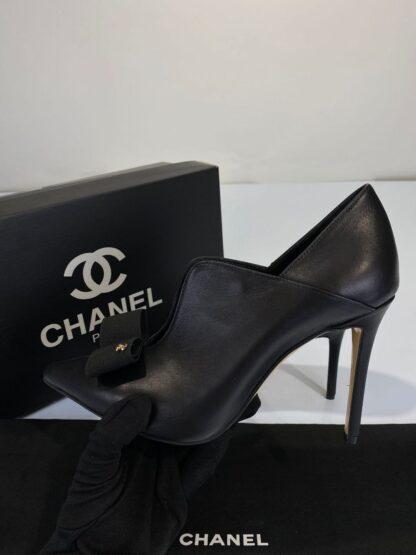chanel ayakkabi topuklu coco siyah 10 cm