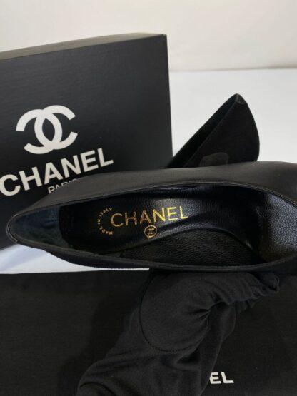 chanel ayakkabi topuklu deri suet classic 10 cm