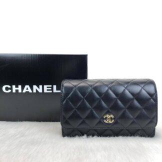chanel canta classic woc siyah gold hakiki deri 19x12 cm