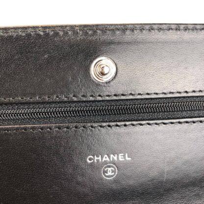 chanel canta classic woc siyah silver hakiki deri 19x12 cm