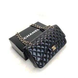 chanel canta ithal classic flap deri siyah gold aksesuar 2.55 orta boy 26x18 cm